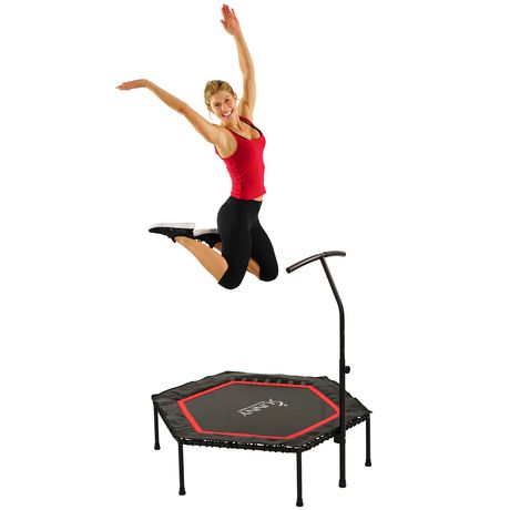 Sunny Health & Fitness No. 079 Hexagon Trampoline with Adjustable Handlebar - image 1 of 8