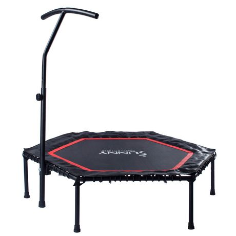 Sunny Health & Fitness No. 079 Hexagon Trampoline with Adjustable Handlebar - image 2 of 8