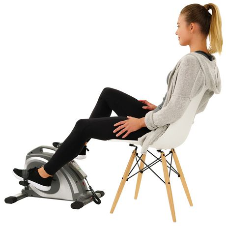 Sunny Health & Fitness Motorized Mini Exercise Bike with 90 Rpms - Electric Surface Cycle 90 - image 1 of 7