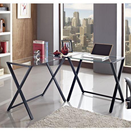 metal design furniture. We Furniture Glass And Metal X-Frame Corner Computer Desk Metal Design Furniture