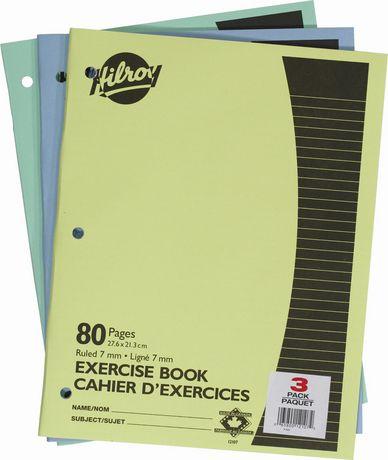 Hilroy Cahiers d'exercices brochés, 3/paquet, 10-7/8 x 8-3/8, 80 Pages - image 1 de 1