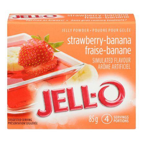 Poudre pour gelée Jell-O Fraise-banane – préparation pour dessert en gélatine - image 1 de 4