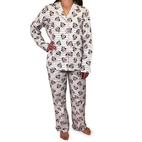 Disney's Minnie Mouse Ladies' Long Sleeve, Flannel Pyjama Set by Disney