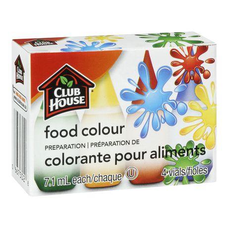 Club House Food Colour Preparation 4-Vials | Walmart Canada