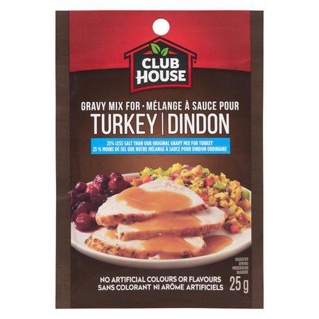 Club House 25% Less Salt Turkey Gravy Mix - image 1 of 1