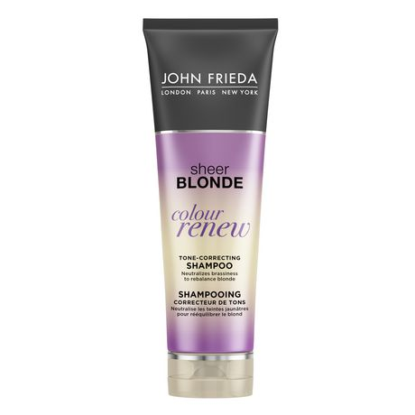 john frieda sheer blonde colour renew tone correcting shampoo. Black Bedroom Furniture Sets. Home Design Ideas
