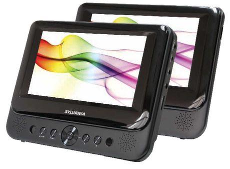 Sylvania 7-Inch Dual Screen Portable DVD Player | Walmart ...