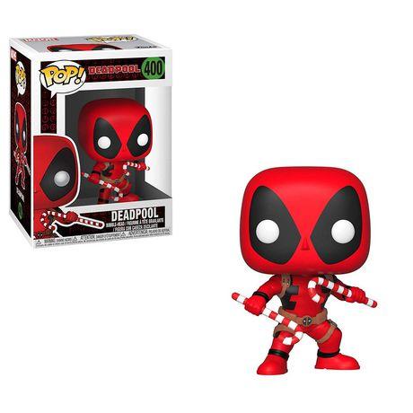Funko POP! Marvel: Deadpool - Deadpool with Candy Canes Vinyl Figure - image 1 of 1