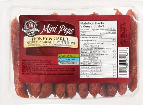 Grimm S Gluten Free Honey Amp Garlic Mini Pepperoni Sticks