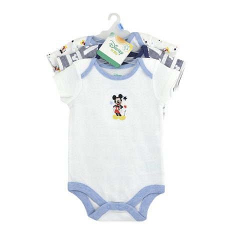 Disney Boys' Mickey Mouse short Sleeve Bodysuits - Pack of 3 - image 2 of 5