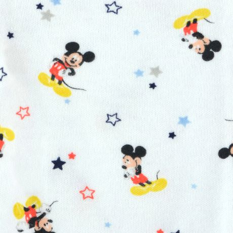 Disney Boys' Mickey Mouse short Sleeve Bodysuits - Pack of 3 - image 4 of 5