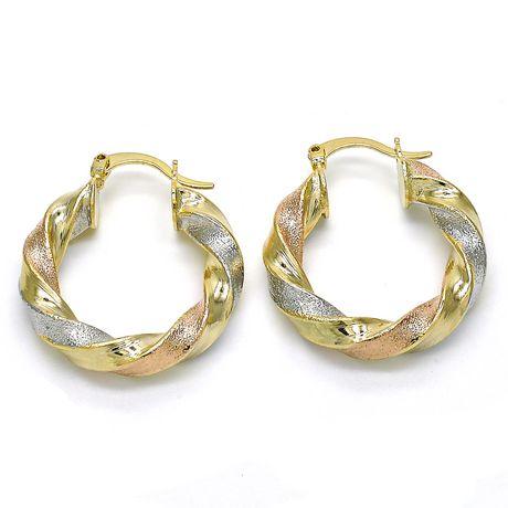 Ti Amo l'or de 14 carats a plaqué des boucles d'oreille - image 1 de 2