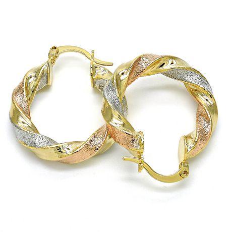 Ti Amo l'or de 14 carats a plaqué des boucles d'oreille - image 2 de 2