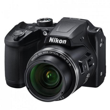 Black Nikon Coolpix digital SLR camera