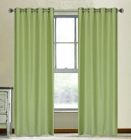 vale panneaux de rideaux oeillets faux soie doubler ensemble de 2 walmart canada. Black Bedroom Furniture Sets. Home Design Ideas