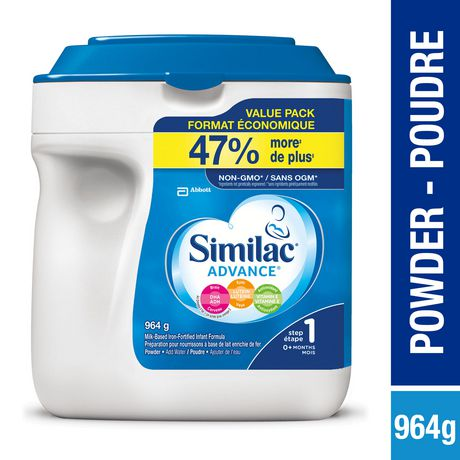 Similac Advance Step 1 Baby Formula Powder + DHA, Lutein & Vtmn E, 964 g - image 1 of 9