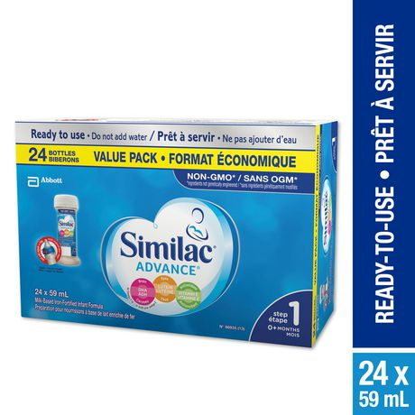 Similac Advance Step 1 Ready-To-Use Baby Formula, 24 x 59 mL - image 1 of 9