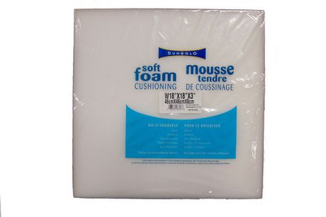 SunGlo Soft Foam Cushioning 18 X 18 X 3 Inches - image 1 of 2