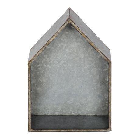 Hometrends short galvanized metal house d cor walmart canada for Al ahram aluminium decoration
