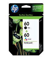 HP 60 Black & Tri-Colour Original Ink Cartridges, 2 pack (N9H63FN) - image 1 of 6
