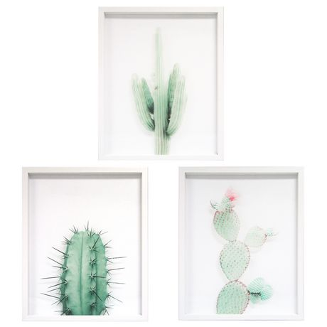 Hometrends Assorted Cacti Plant Decorative Wall Art