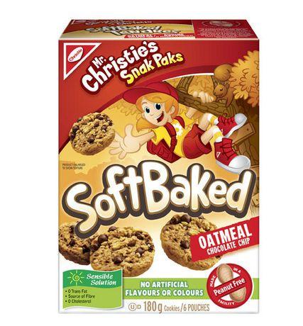 Biscuits tendres d'avoine et brisures de chocolat de Snak Paks Mr . Christie - image 1 de 1