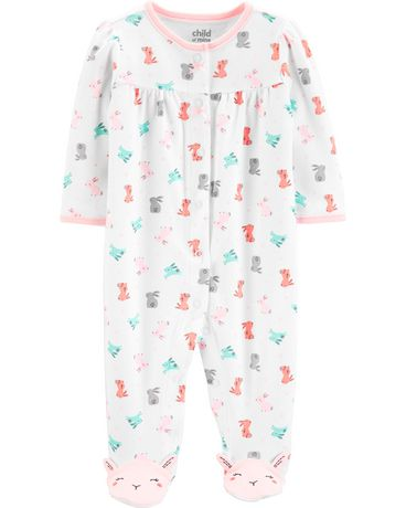 d80dee359 Child of Mine made by Carter's Newborn girls' Sleep N Play Outfit - bunny  ...