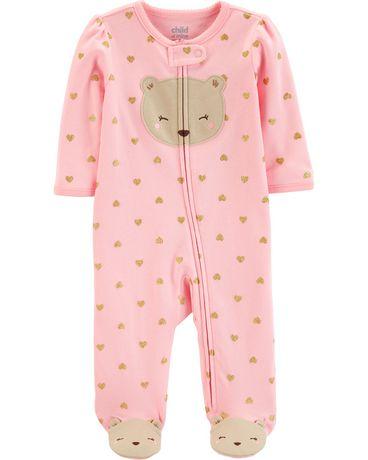 68b249025 Child of Mine made by Carter's Newborn girls' Sleep N Play Outfit - bear ...