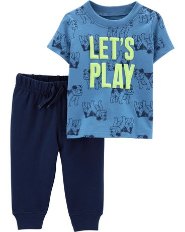 Child of Mine made by Carter's Toddler Boys 2pc set - lets play - image 1 of 1