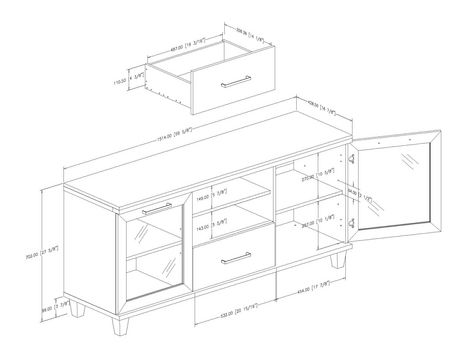 South Shore Adrian TV Stand for TVs up to 60'' - image 7 of 8