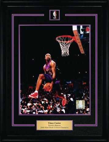 Vince Carter Broche et plaque encadrées Raptors 2000 Dunk Champ Violet - image 1 de 1