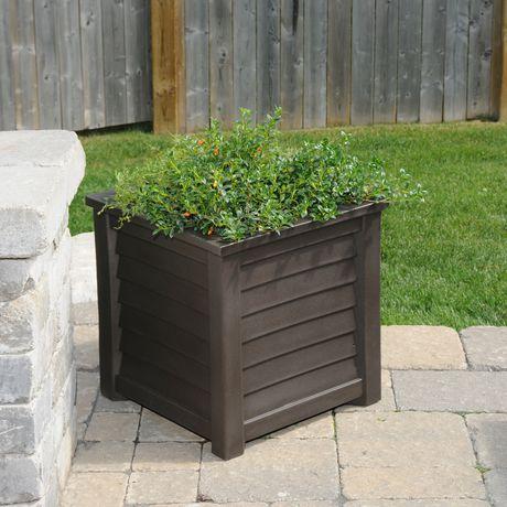 Jardinière carrée 20po x 20po pour terrasse Lakeland - image 2 de 2