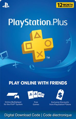 PlayStation Plus 12 Month Membership - Electronic Code