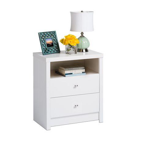 table de chevet haute deux tiroirs de la s rie calla. Black Bedroom Furniture Sets. Home Design Ideas