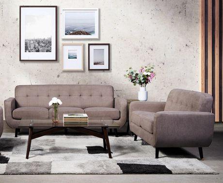 Topline Home Furnishings 2 pc Smoke Grey Living room Set - image 1 of 1
