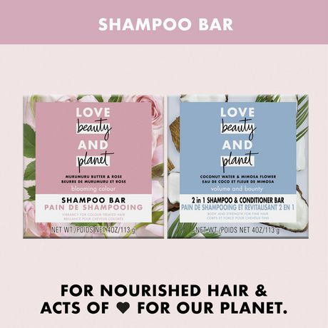 Love Beauty And Planet Shampoo Bar for colour treated hair Murumuru Butter Scent, vegan & paraben free 113 gr - image 6 of 8