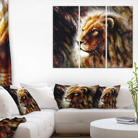 Impression sur toile « lion majestueusement paisible » Design Art - image 1 de 2