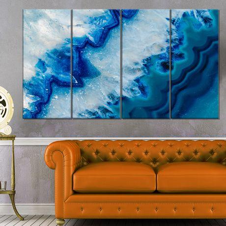 Design Art Geode Slice Macro Abstract Digital Art Canvas Print Walmart Canada