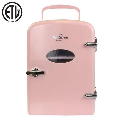Koolatron KRT04-P 6 Can AC/DC Retro Electric Mini Cooler in Pink (4.2 Quarts/4 Liters) - image 1 of 6