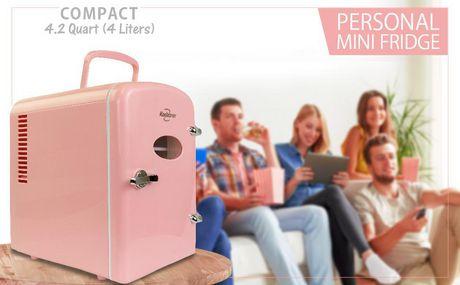 Koolatron KRT04-P 6 Can AC/DC Retro Electric Mini Cooler in Pink (4.2 Quarts/4 Liters) - image 3 of 6