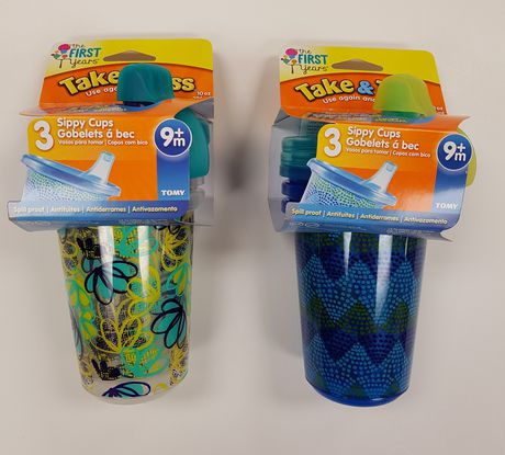 The First Years Take & Toss 10 Oz Sippy Cups - 3 Pack - image 1 of 1