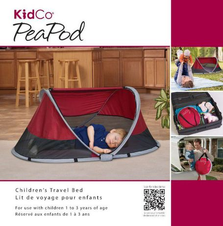 KidCo Peapod Travel Bed - Cranberry