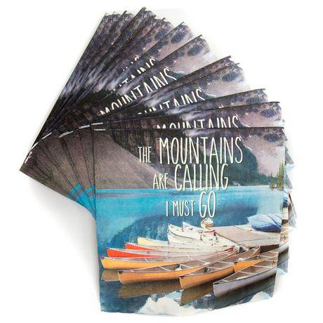 """Canadiana Photo Real Serviettes """"Les montagnes appellent je dois partir"""", 40 CT par Horizon Group USA - image 2 de 2"""
