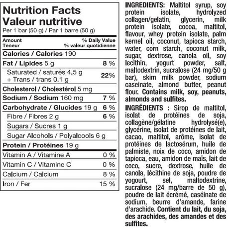 Pure Protein Dark Chocolate Coconut bar - image 2 of 2