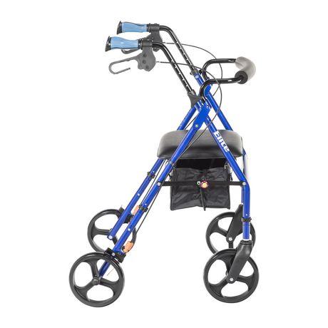 Hugo Elite Rollator Rolling Walker With Seat Backrest And