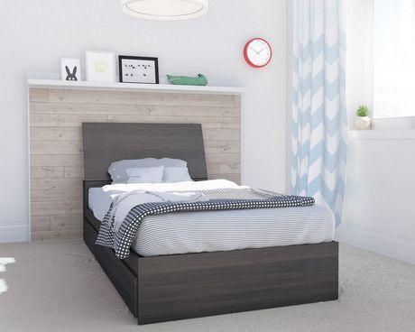 lit simple tribeca de nexera rangement int gr avec t te de lit en b ne walmart canada. Black Bedroom Furniture Sets. Home Design Ideas