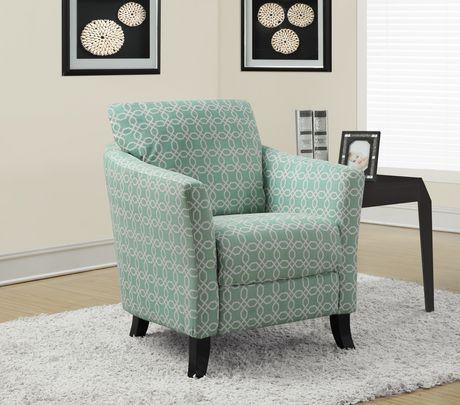 Monarch Specialties Chaise d'appoint - verte pâle - image 2 de 2
