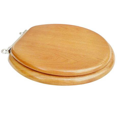 17 inch round wood veneer toilet seat