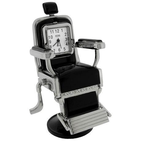 Barber salon chair collectible desktop mini clock for Chaise de coiffure