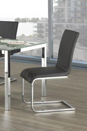 Topline Home Furnishings Black Leatherette Side Chairs - image 1 of 2